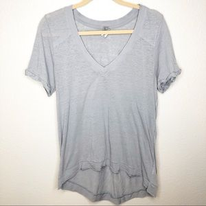 Free People We the Free V Neck Pearls Tee